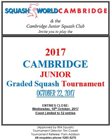 2017 Cambridge Junior Graded Poster